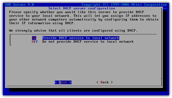 Конфигурация DHCP сервера dhcp