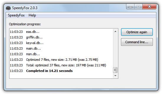 Прогресс оптимизации SpeedyFox