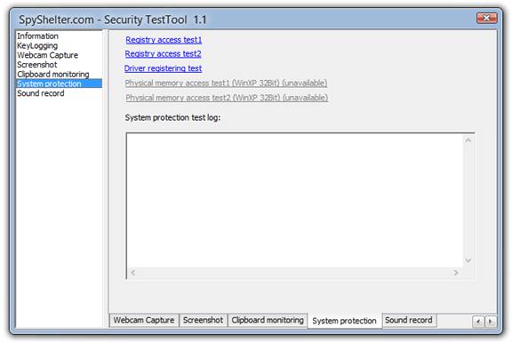 Инструмент проверки безопасности SpyShelter