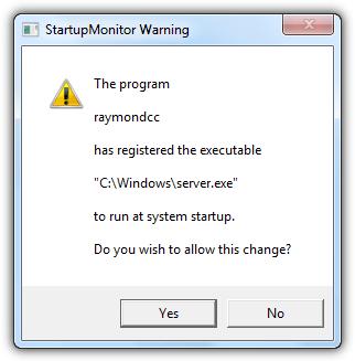 предупреждение монитора запуска