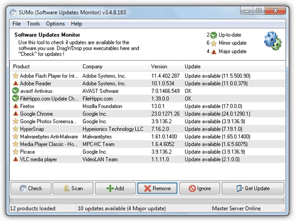 Монитор обновлений программного обеспечения