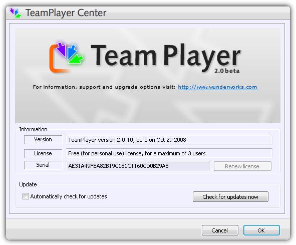 бесплатная лицензия teamplayer