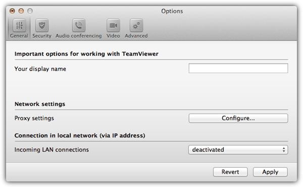 Параметры хоста TeamViewer