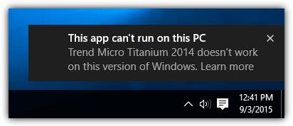 это приложение не может работать на этом компьютере