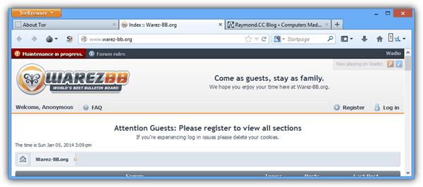 Tor Browser доступ к заблокированному сайту