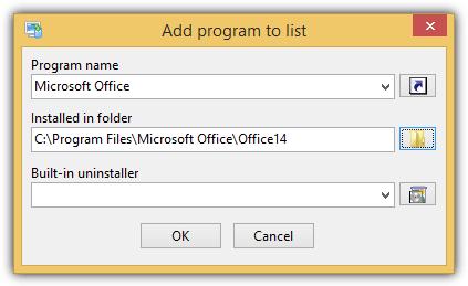 Всего удалить добавить программу в список