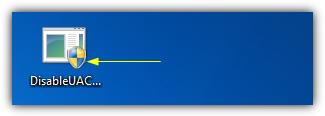Значок UAC