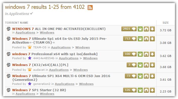 неофициальные загрузки Windows 7 торрент