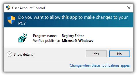 окно управления учетной записью пользователя
