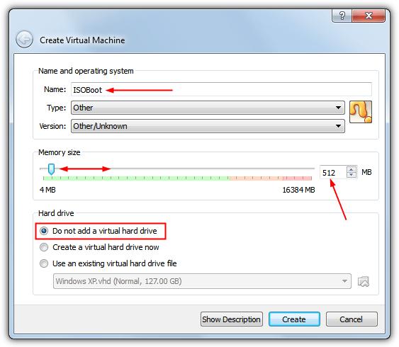 настройки isoboot для настройки virtualbox