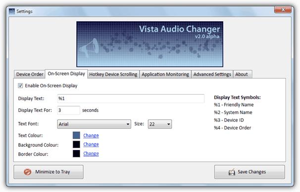 Vista Audio Changer