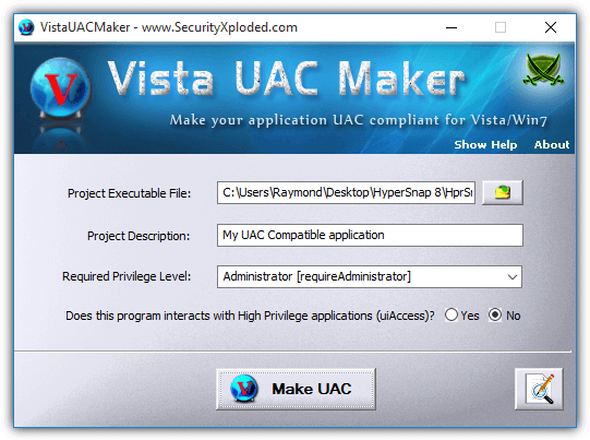 Vista UAC Maker