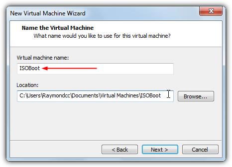 выберите имя vmware isoboot