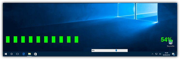объем на экранных дисплеях