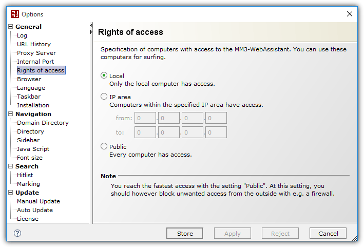 опции веб-помощника