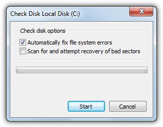 Windows 7 проверить окно диска