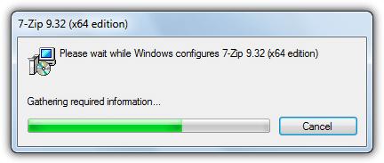 Windows Installer Basic UI