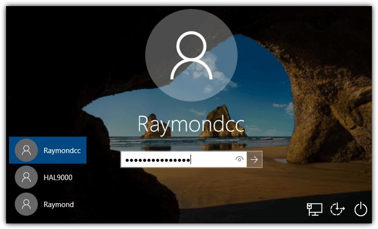 введите пароль на экране входа в Windows