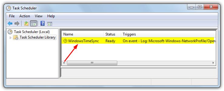 задача windowstimesync