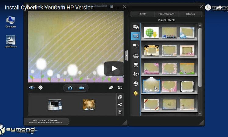 установить HP youcam youtube video
