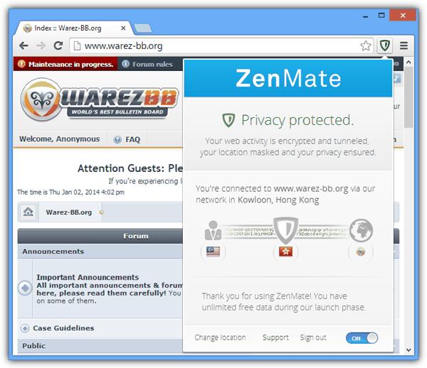 zenmate доступ заблокирован веб-сайтов