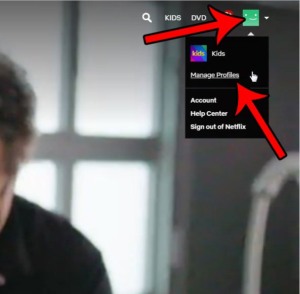 Альтернативный способ добраться до экрана управления профилями netflix